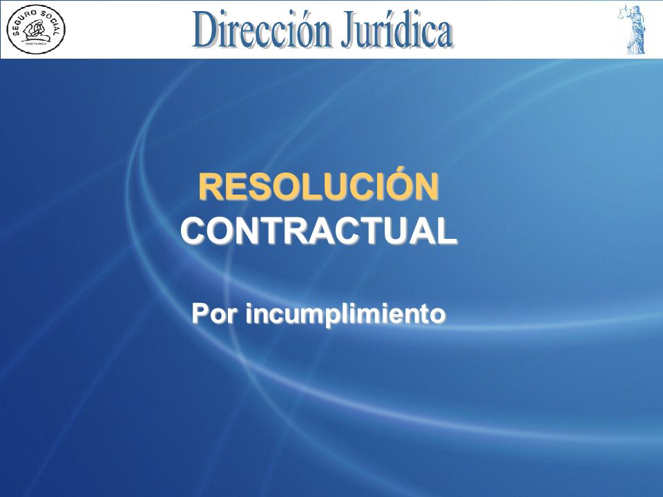 RESOLUCIÓN CONTRACTUAL