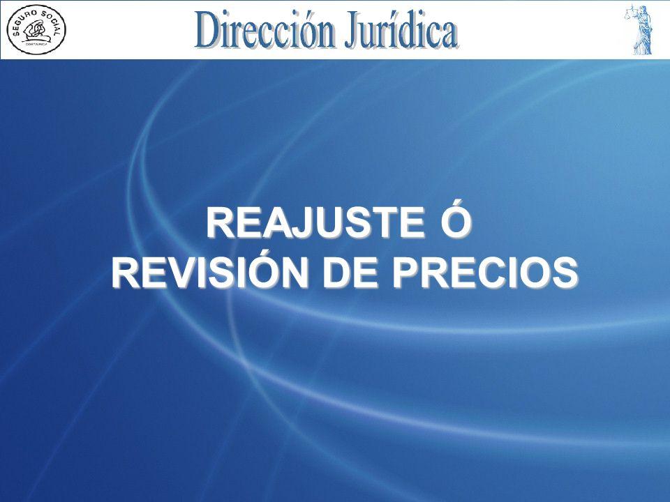 REAJUSTE Ó REVISIÓN DE PRECIOS