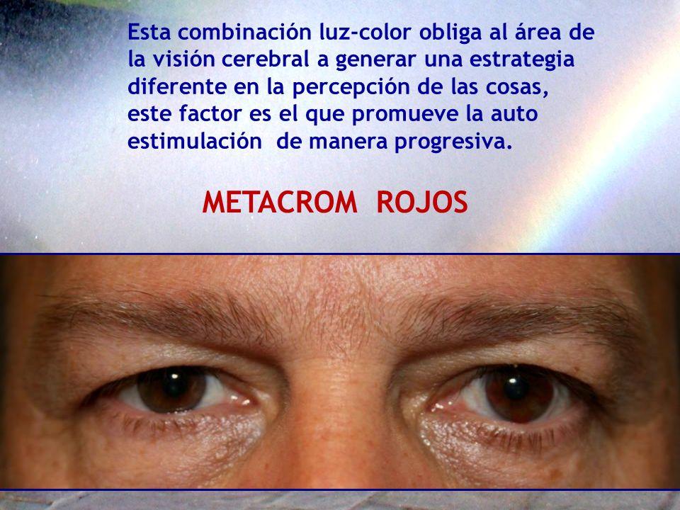 METACROM ROJOS Esta combinación luz-color obliga al área de
