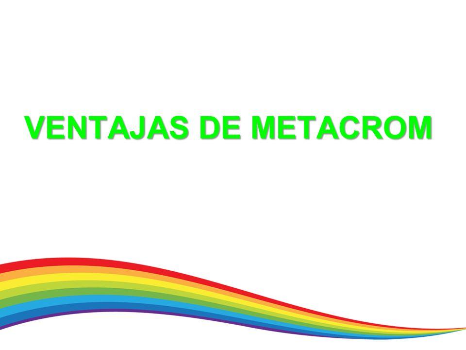 VENTAJAS DE METACROM