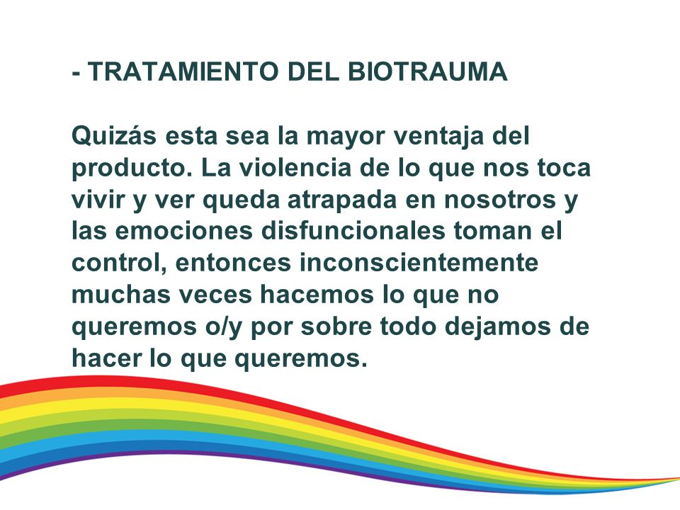 - TRATAMIENTO DEL BIOTRAUMA