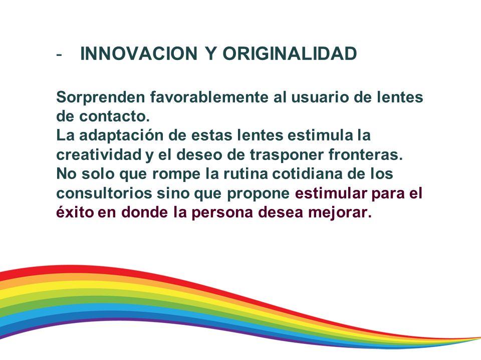 INNOVACION Y ORIGINALIDAD