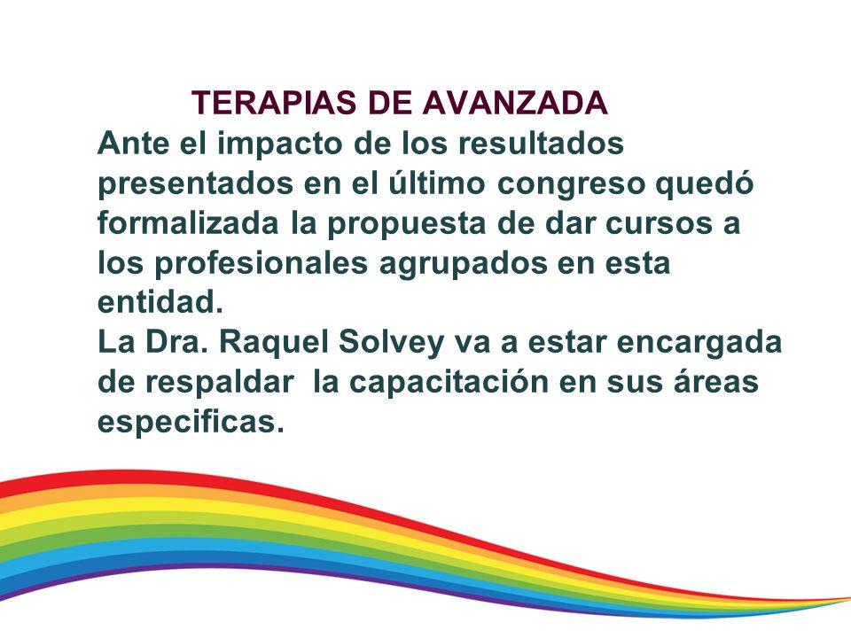 TERAPIAS DE AVANZADA