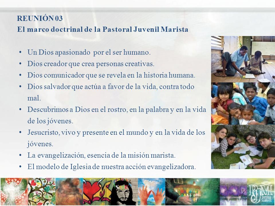 El marco doctrinal de la Pastoral Juvenil Marista