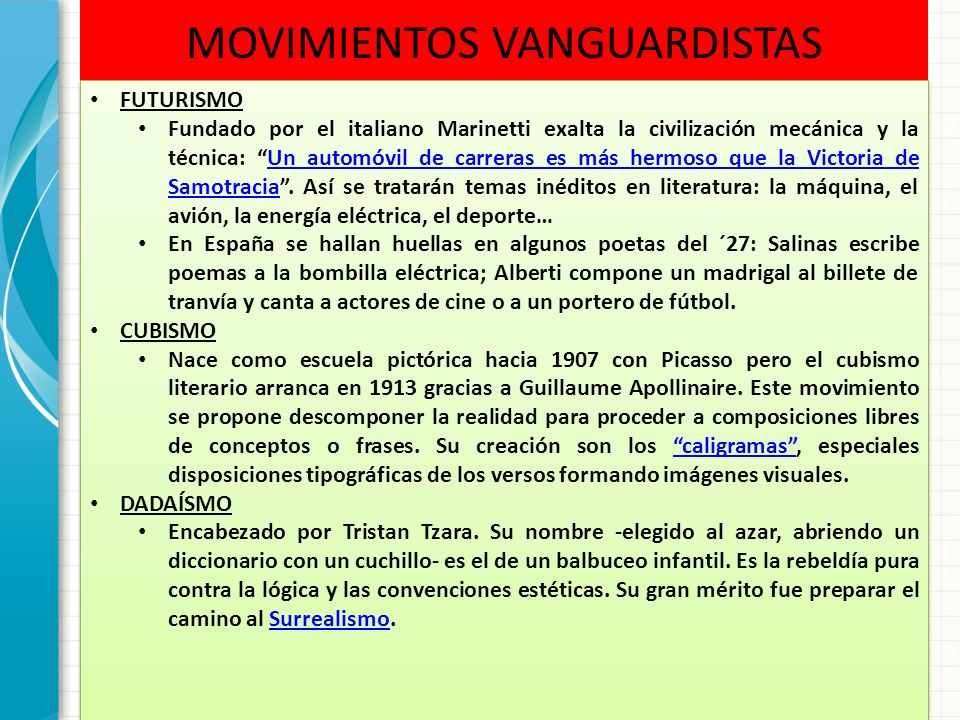 Novecentismo y vanguardias ppt video online descargar for Tecnicas vanguardistas