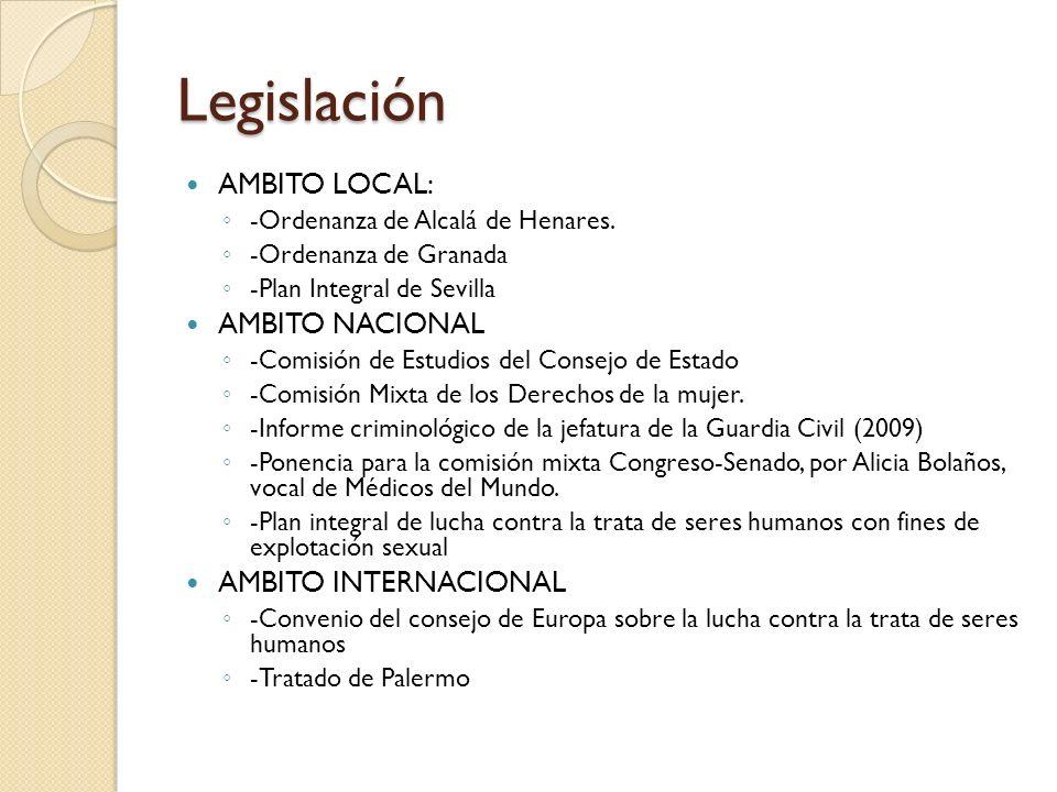 Legislación AMBITO LOCAL: AMBITO NACIONAL AMBITO INTERNACIONAL