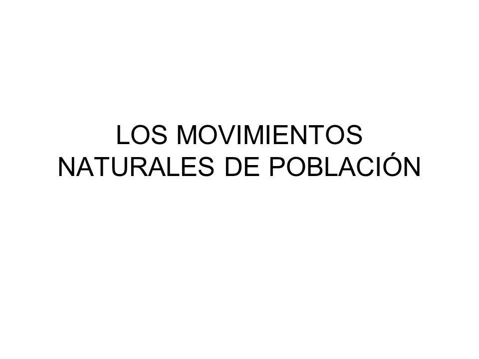 LOS MOVIMIENTOS NATURALES DE POBLACIÓN
