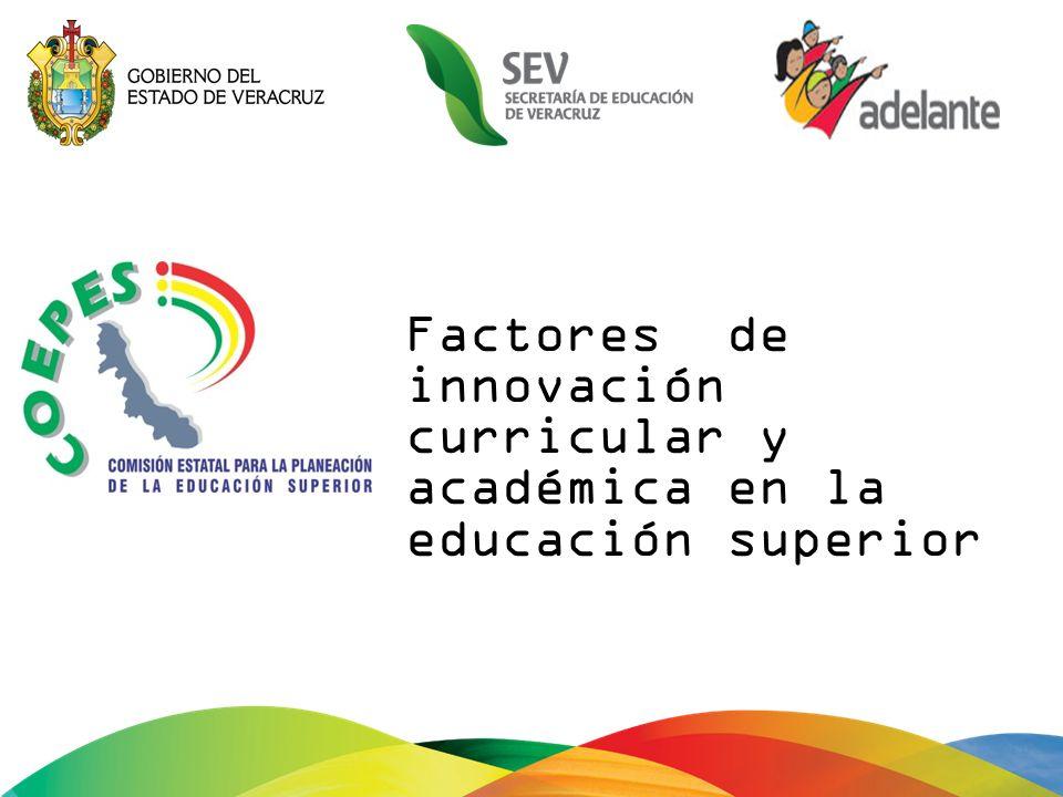Factores de innovación curricular y académica en la educación superior