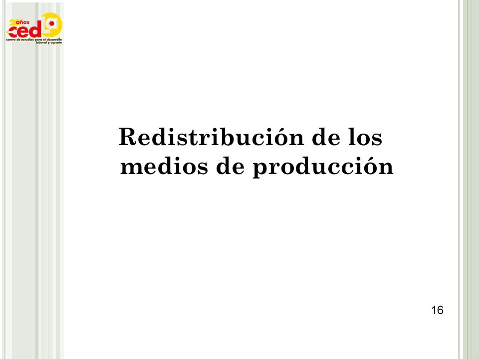 Redistribución de los medios de producción