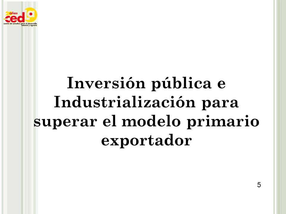 Inversión pública e Industrialización para superar el modelo primario exportador
