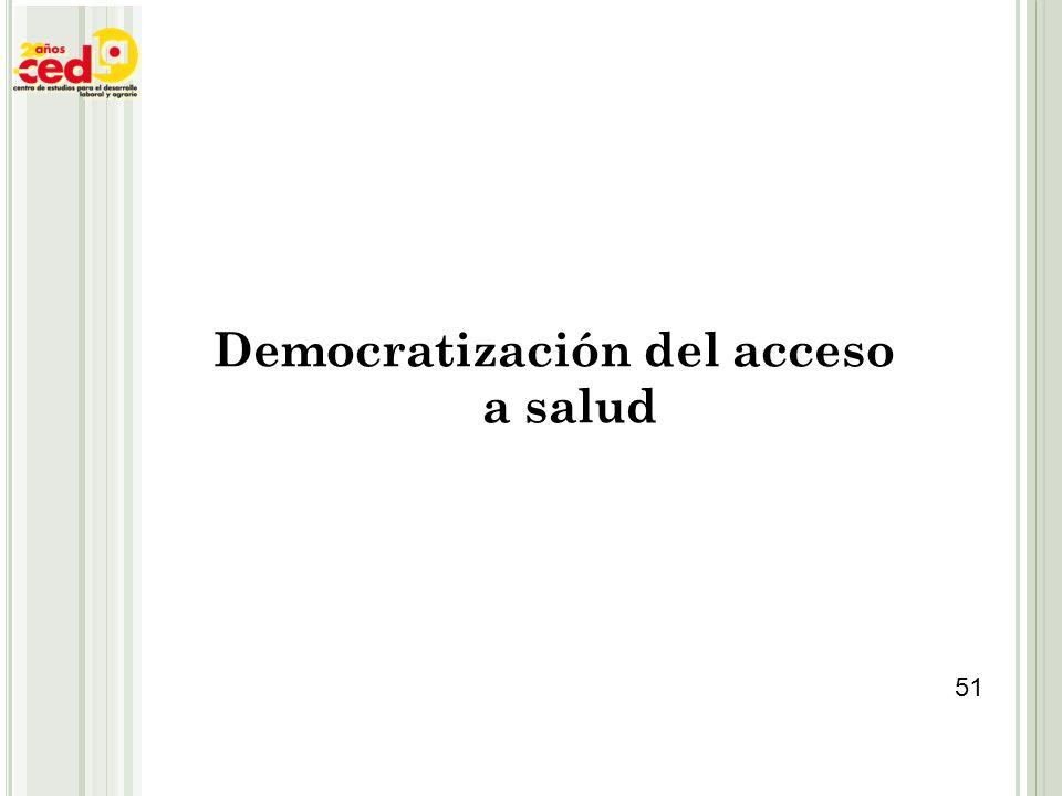 Democratización del acceso a salud