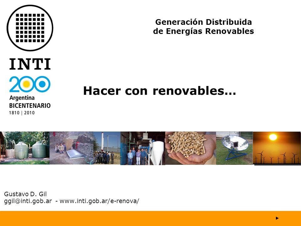 Gustavo D. Gil ggil@inti.gob.ar - www.inti.gob.ar/e-renova/
