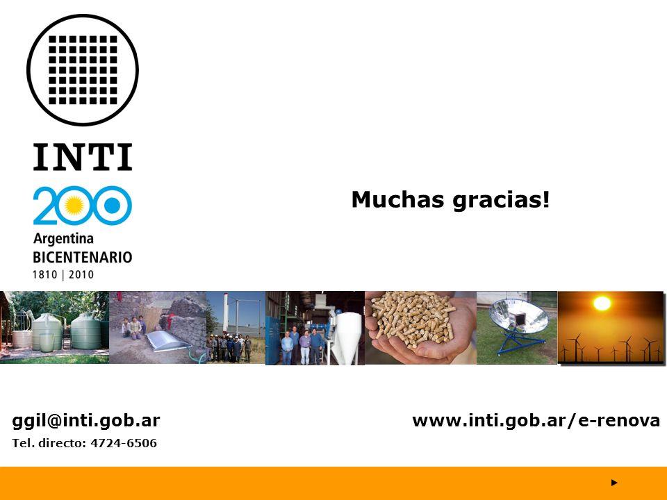 Muchas gracias! ggil@inti.gob.ar www.inti.gob.ar/e-renova