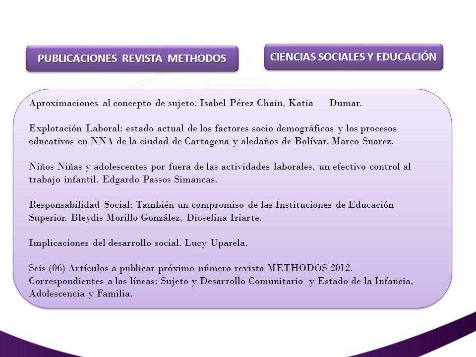PUBLICACIONES REVISTA METHODOS CIENCIAS SOCIALES Y EDUCACIÓN