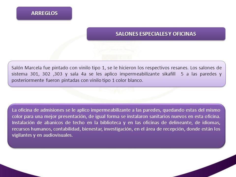 SALONES ESPECIALES Y OFICINAS