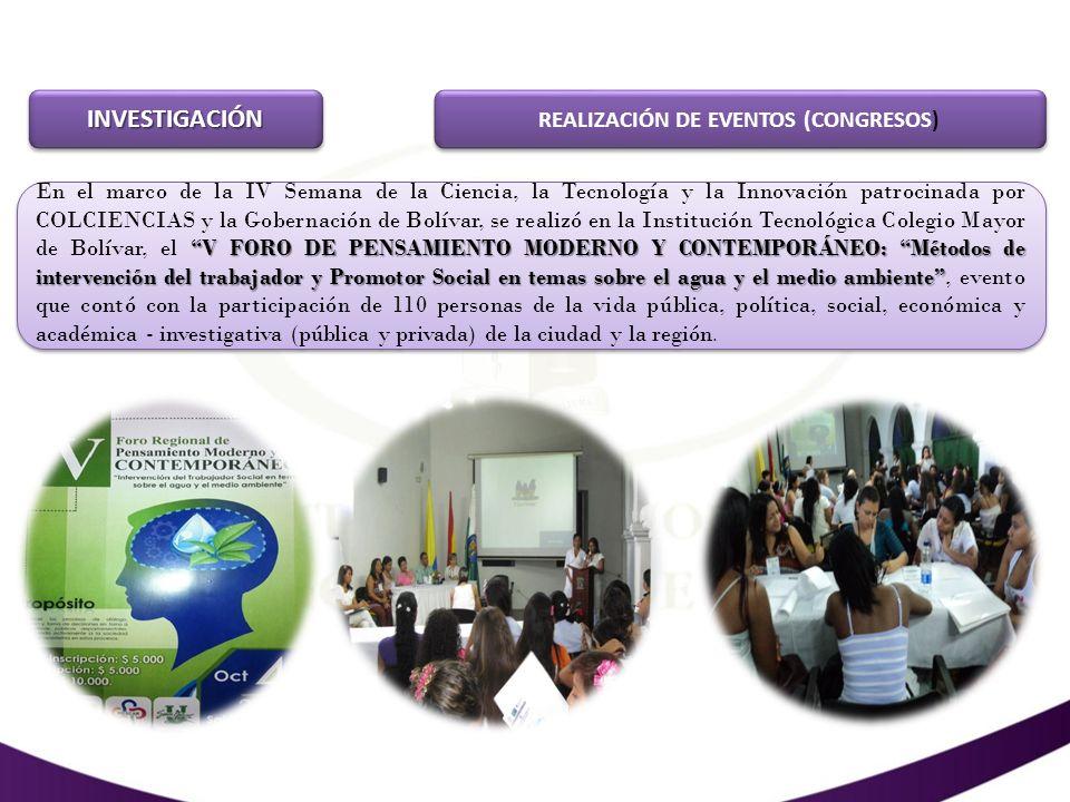 REALIZACIÓN DE EVENTOS (CONGRESOS)