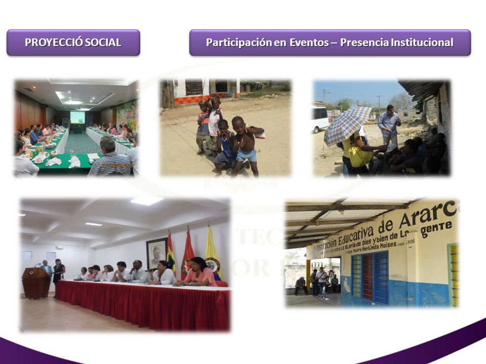Participación en Eventos – Presencia Institucional