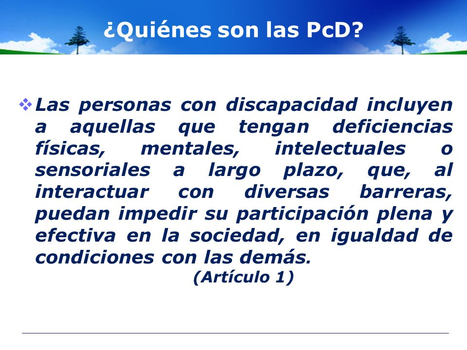 ¿Quiénes son las PcD