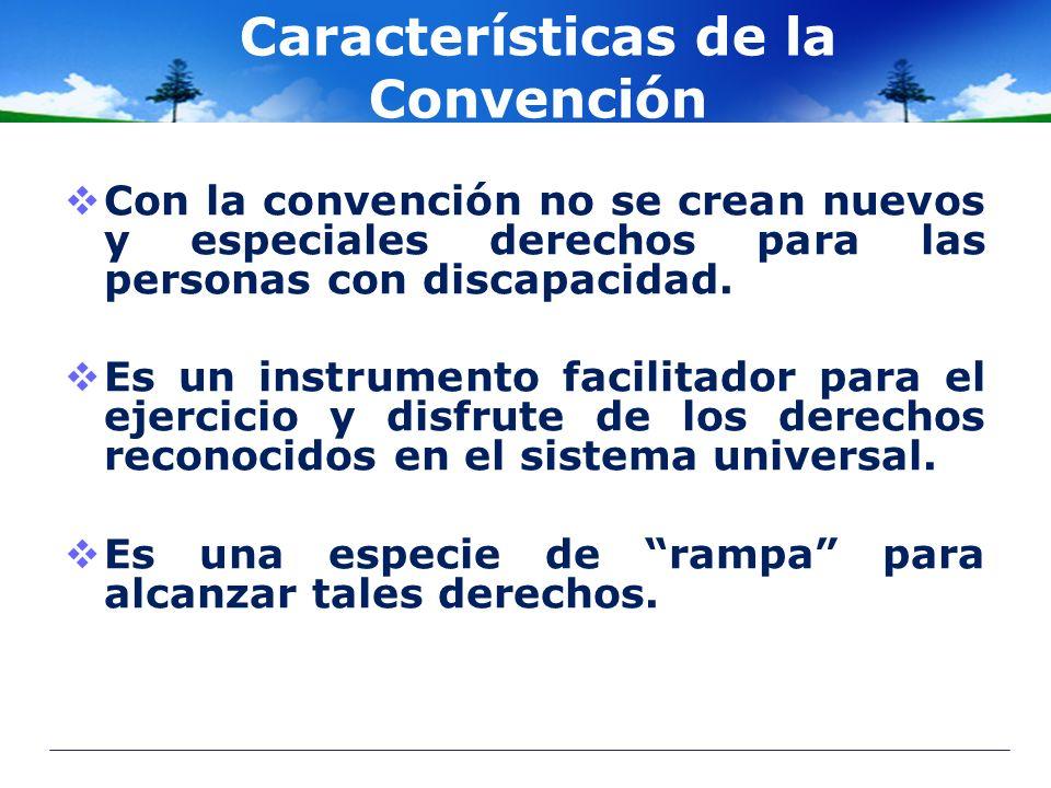 Características de la Convención