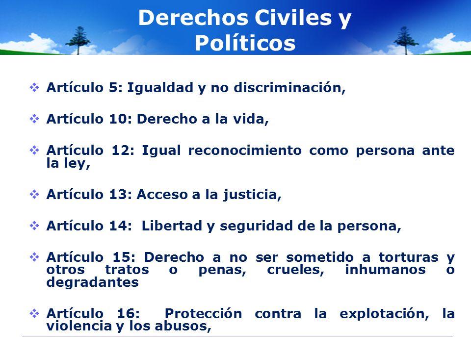 Derechos Civiles y Políticos