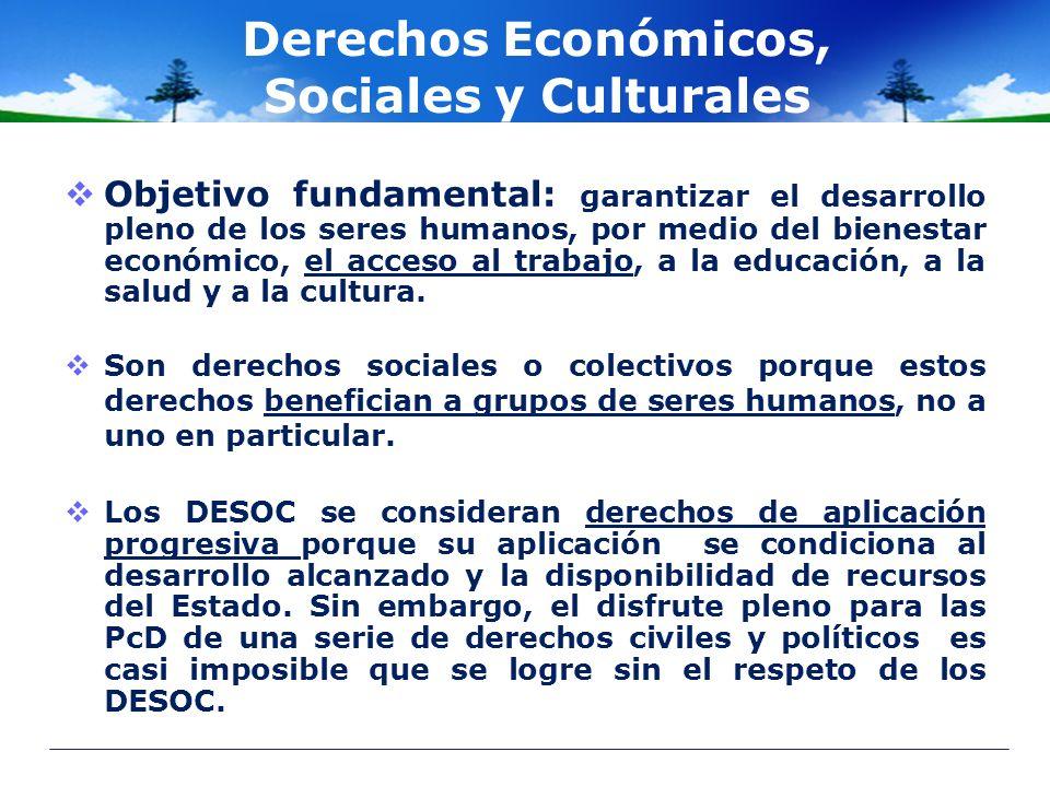 Derechos Económicos, Sociales y Culturales