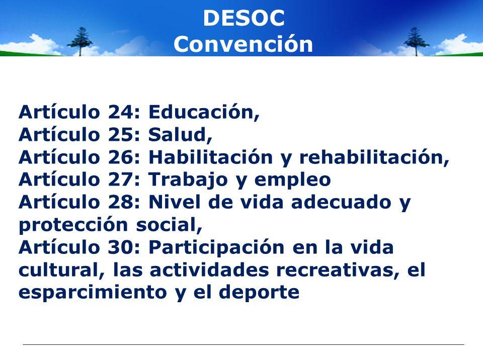 DESOC Convención