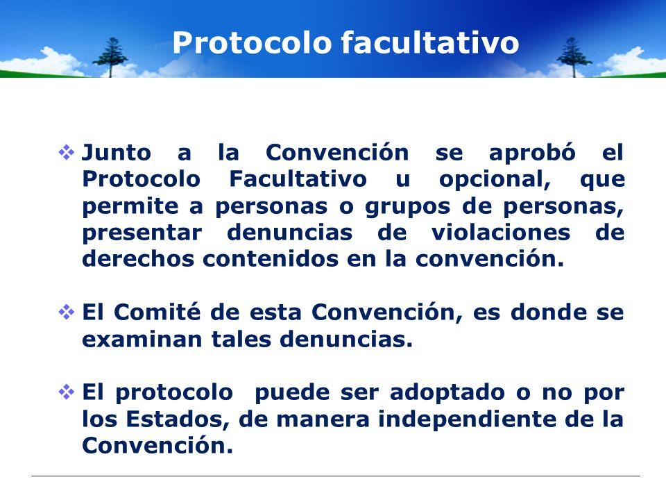 Protocolo facultativo