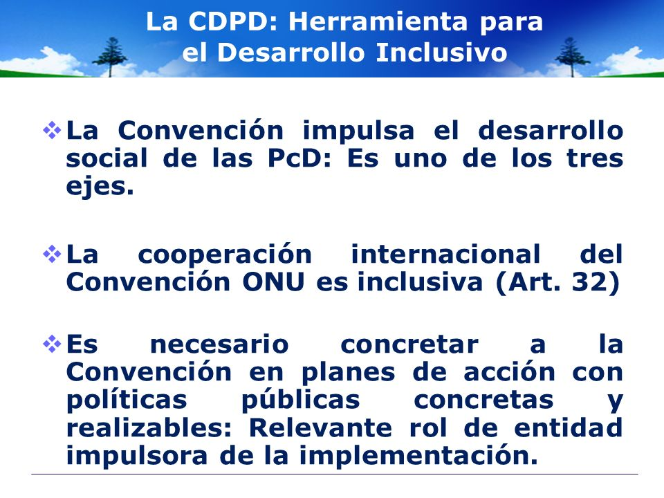 La CDPD: Herramienta para el Desarrollo Inclusivo