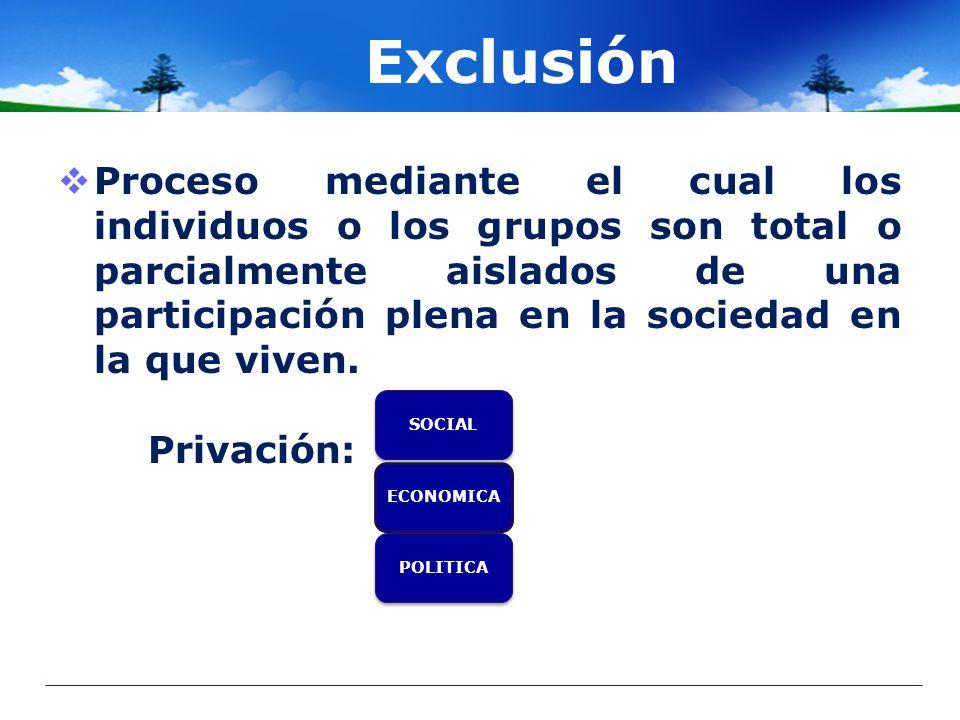 Exclusión
