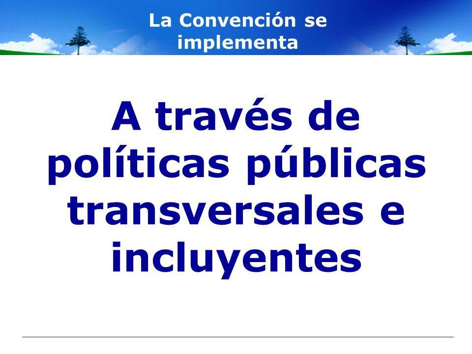 A través de políticas públicas transversales e incluyentes