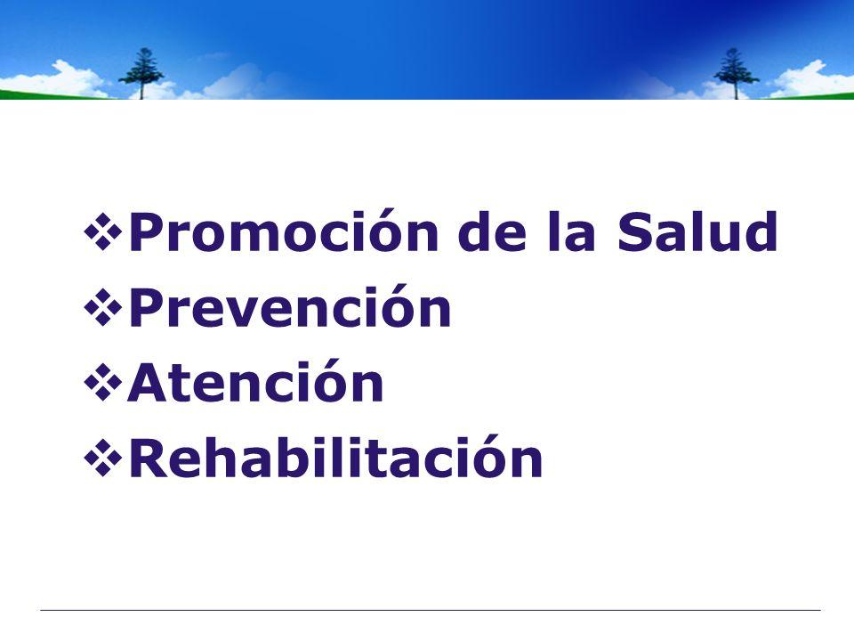 Promoción de la Salud Prevención Atención Rehabilitación