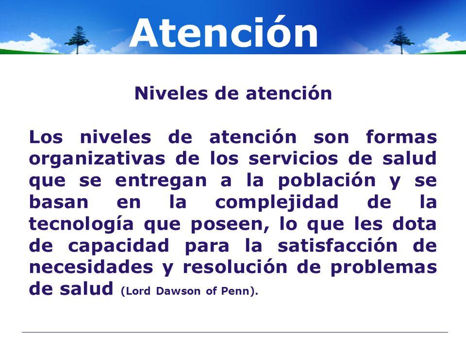 Atención Niveles de atención