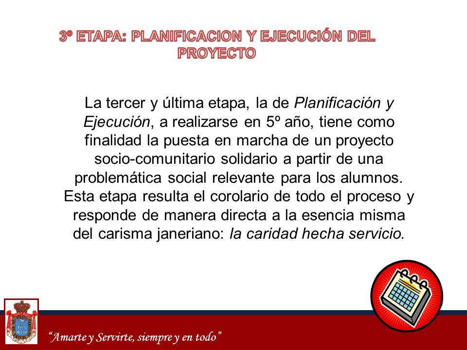 3º ETAPA: PLANIFICACION Y EJECUCIÓN DEL PROYECTO