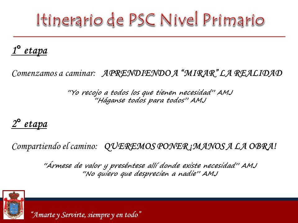 Itinerario de PSC Nivel Primario