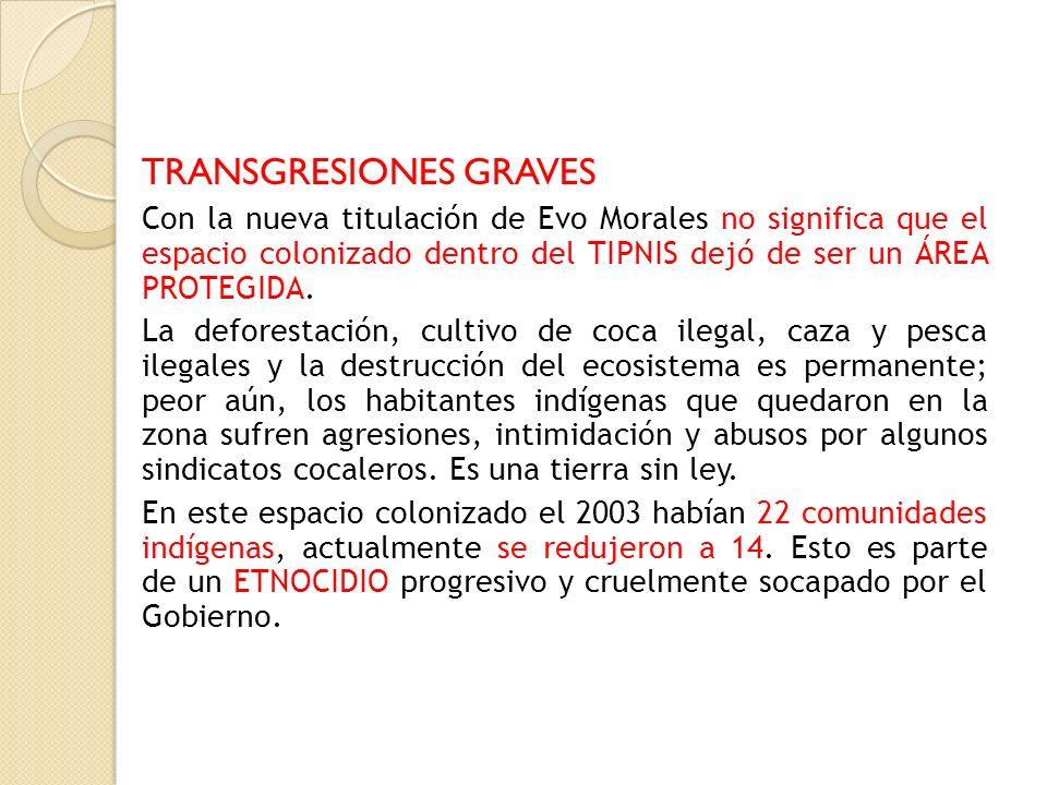 TRANSGRESIONES GRAVES