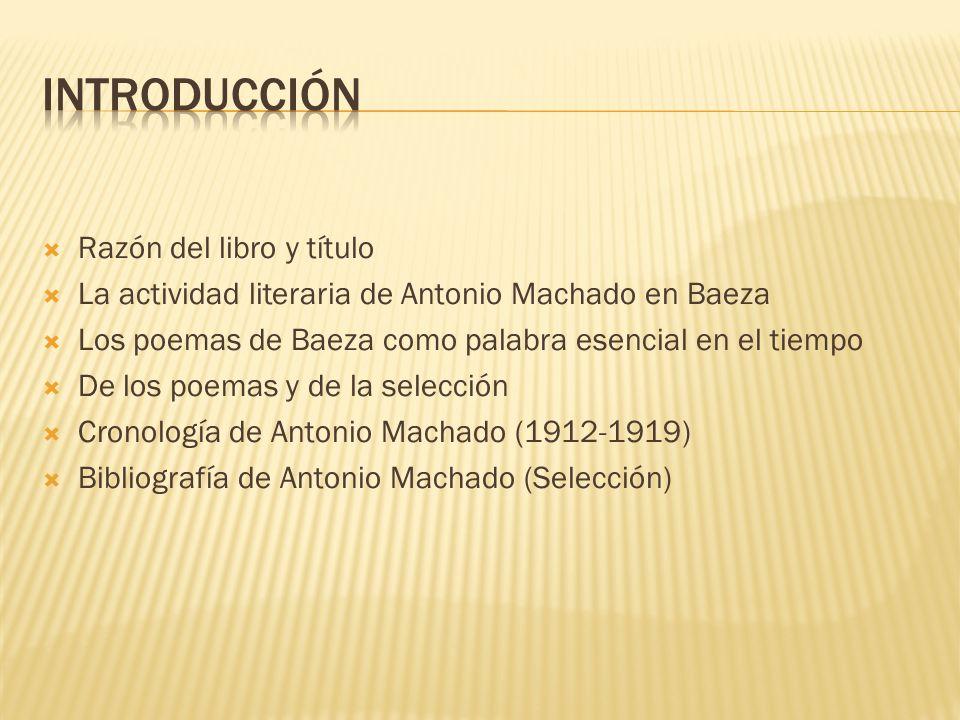 introducción Razón del libro y título