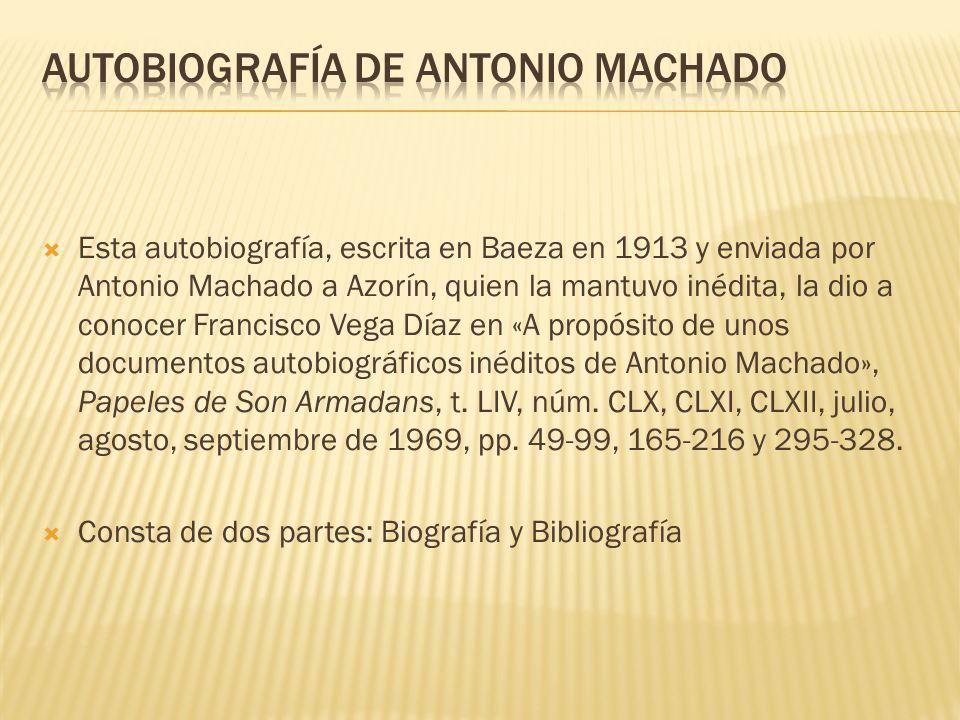 AUTOBIOGRAFÍA DE ANTONIO MACHADO