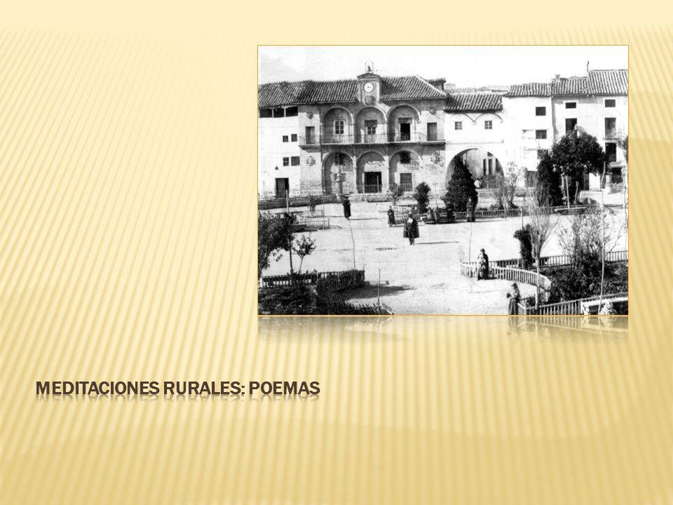 MEDITACIONES RURALES: POEMAS