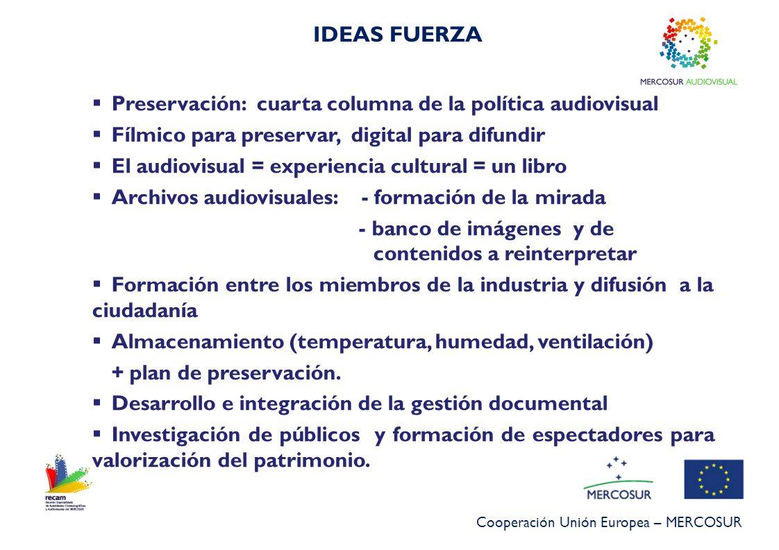 IDEAS FUERZA Preservación: cuarta columna de la política audiovisual