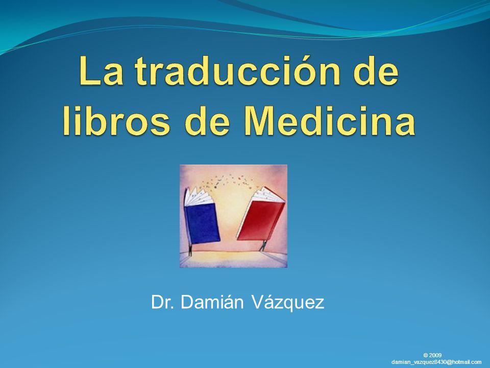 La traducción de libros de Medicina