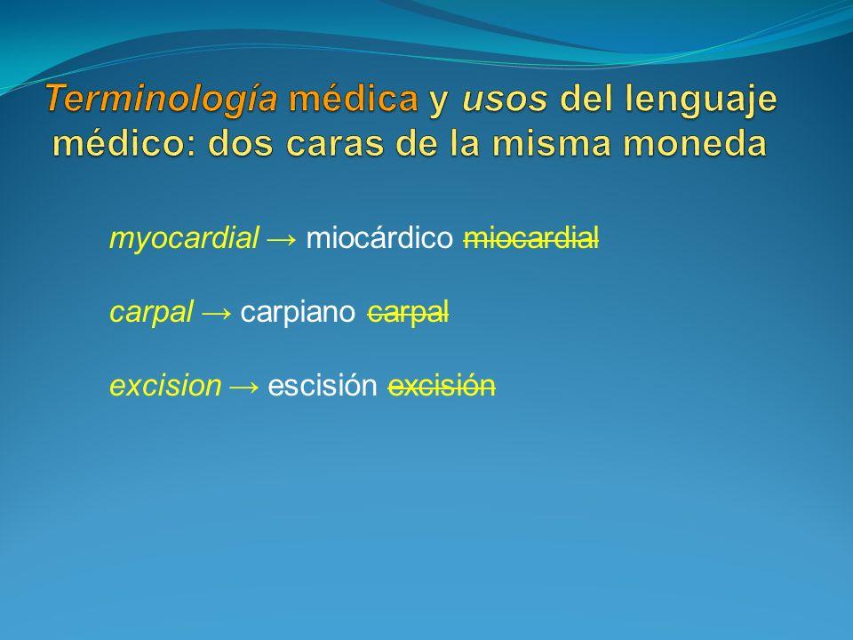 Terminología médica y usos del lenguaje médico: dos caras de la misma moneda