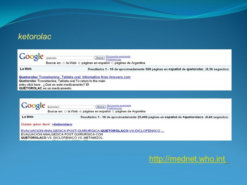 ketorolac http://mednet.who.int