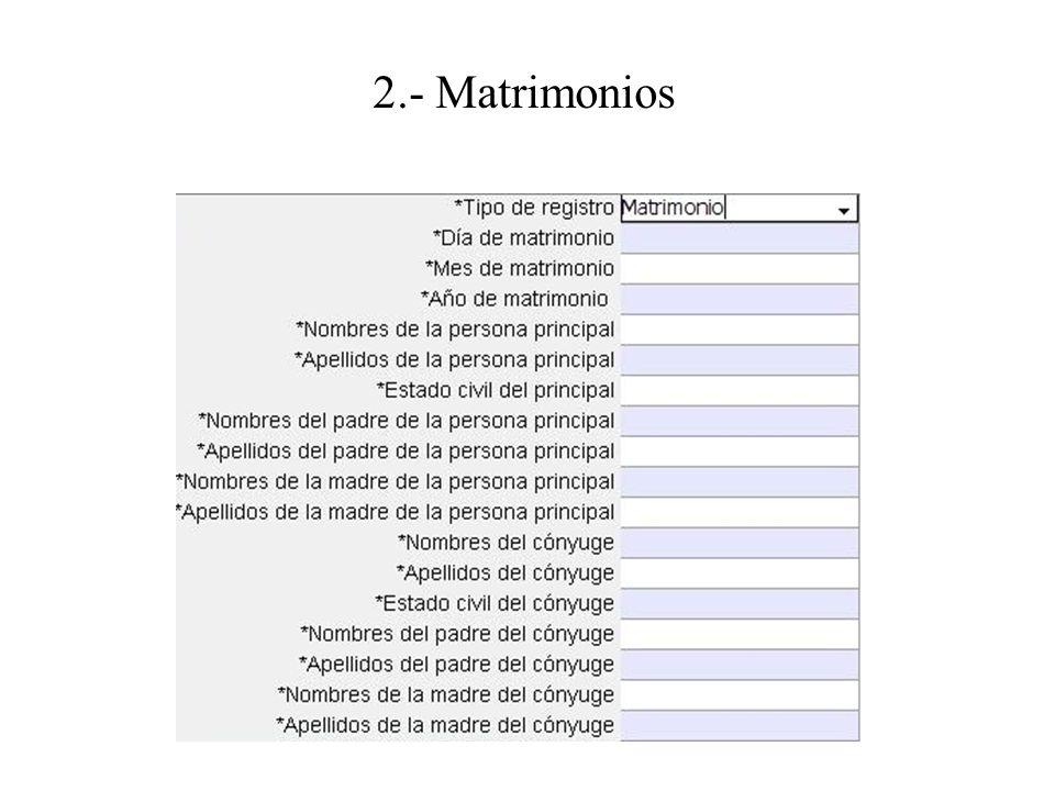 2.- Matrimonios