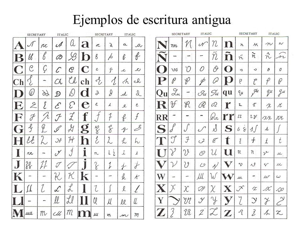 Ejemplos de escritura antigua