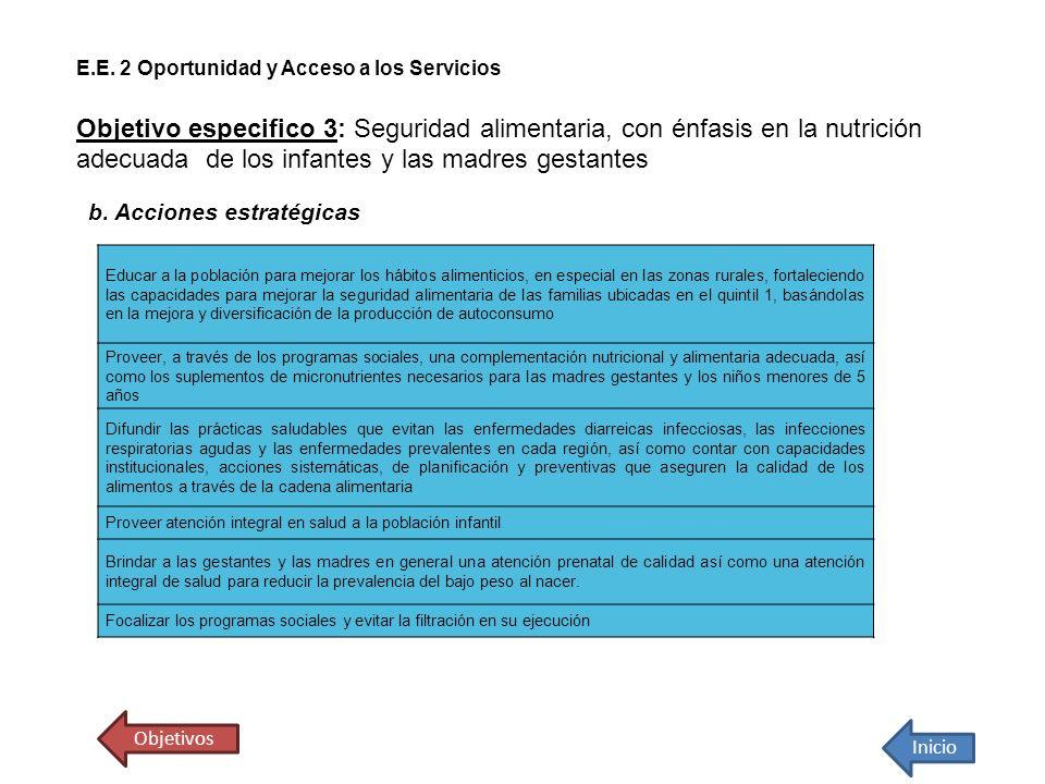 E.E. 2 Oportunidad y Acceso a los Servicios