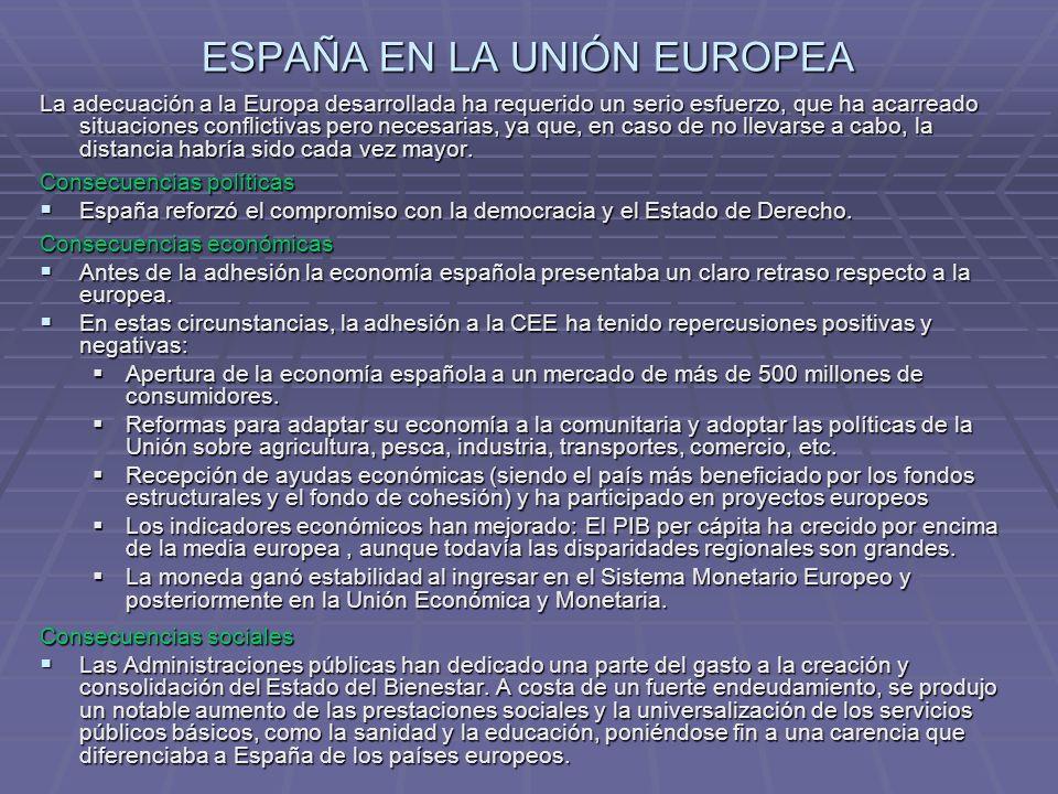 ESPAÑA EN LA UNIÓN EUROPEA