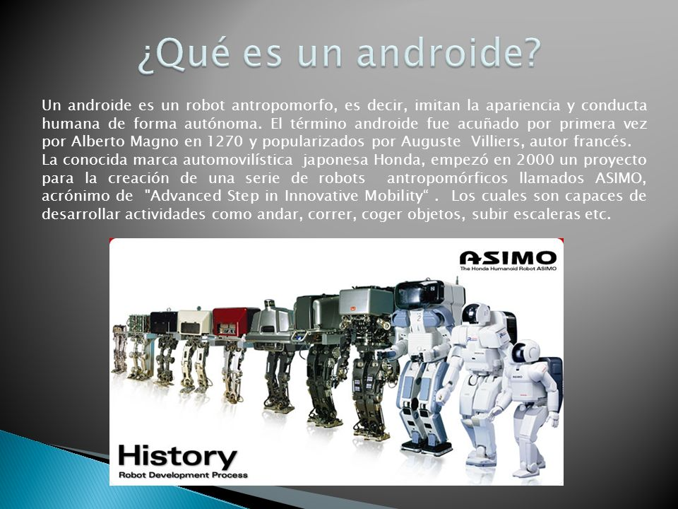 ¿Qué es un androide