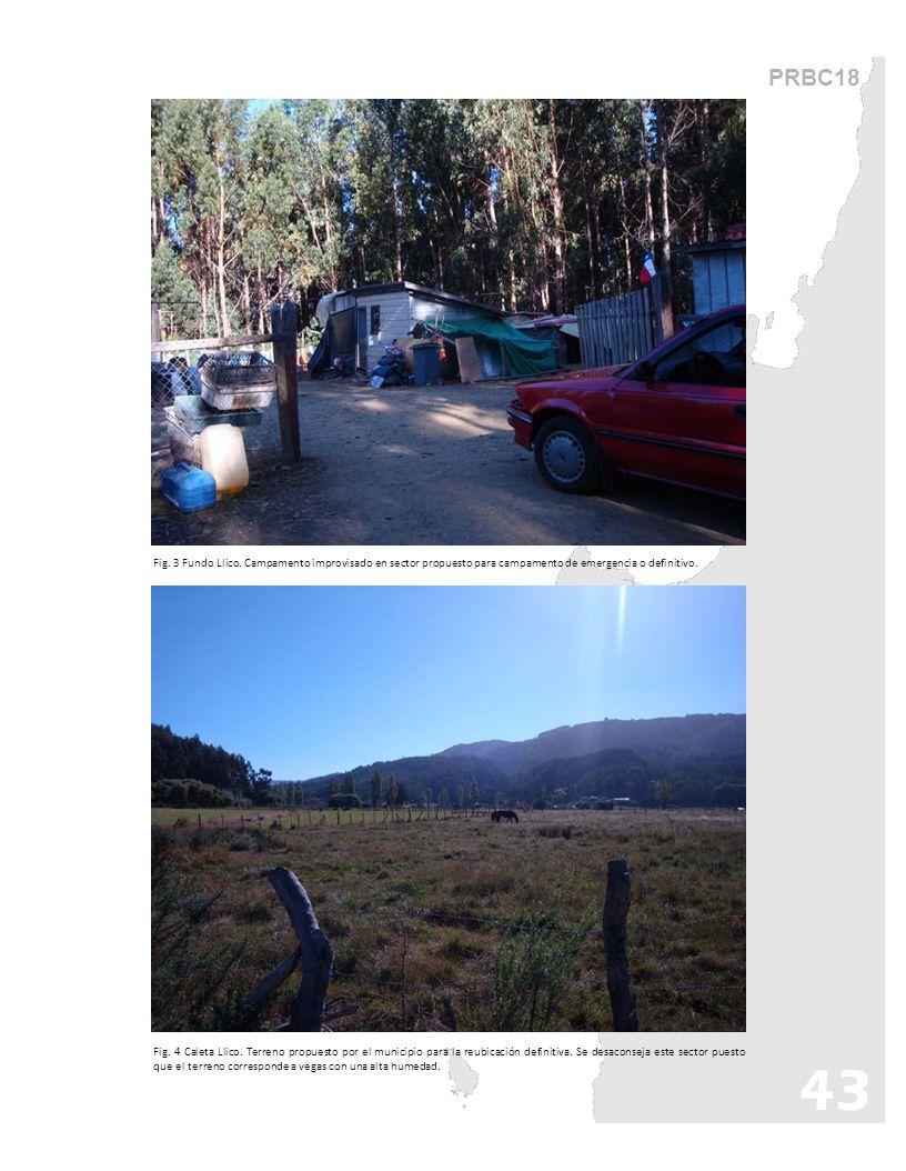 PRBC18 Fig. 3 Fundo Llico. Campamento improvisado en sector propuesto para campamento de emergencia o definitivo.