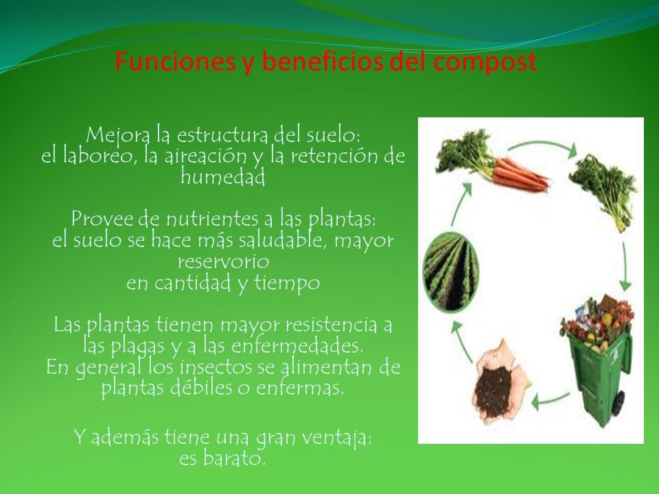 Funciones y beneficios del compost
