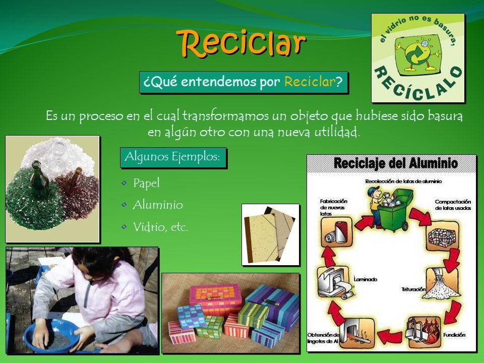 Reciclar ¿Qué entendemos por Reciclar